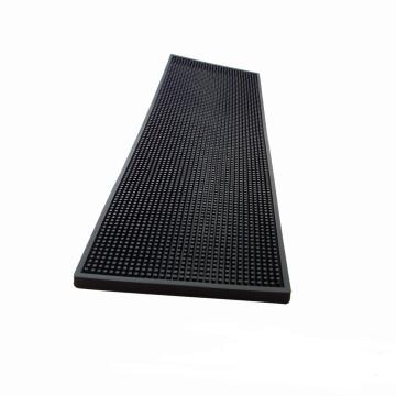Tapis de bar Noir rectangle (20cm x 60cm)