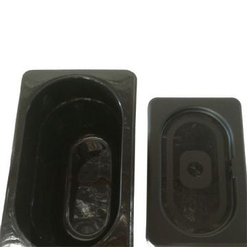 Bacs gastro rectangle noir + couvercle