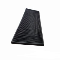 Tapis de bar Noir rectangle (20cm x 60cm)